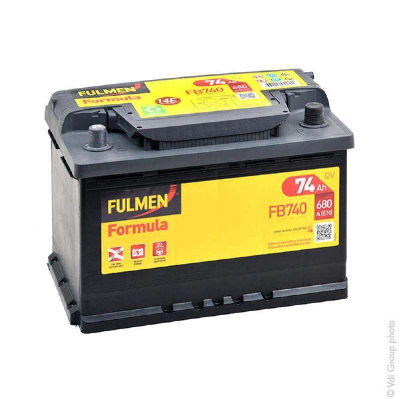 Batterie de démarrage FB740 12V 74Ah 680A - BPA7030