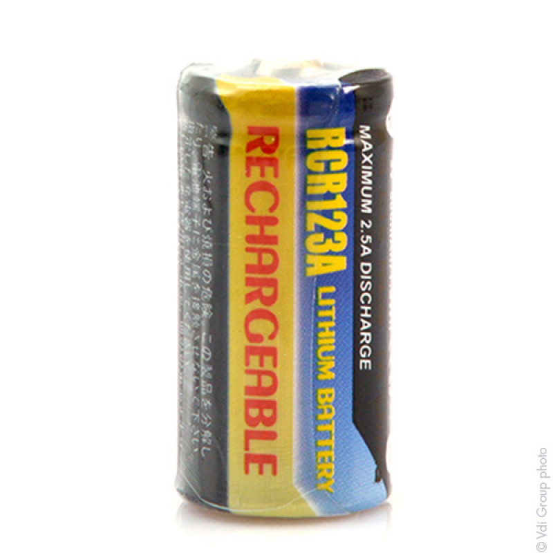 Batterie appareil photo RCR123 3V 500mAh - FML8668