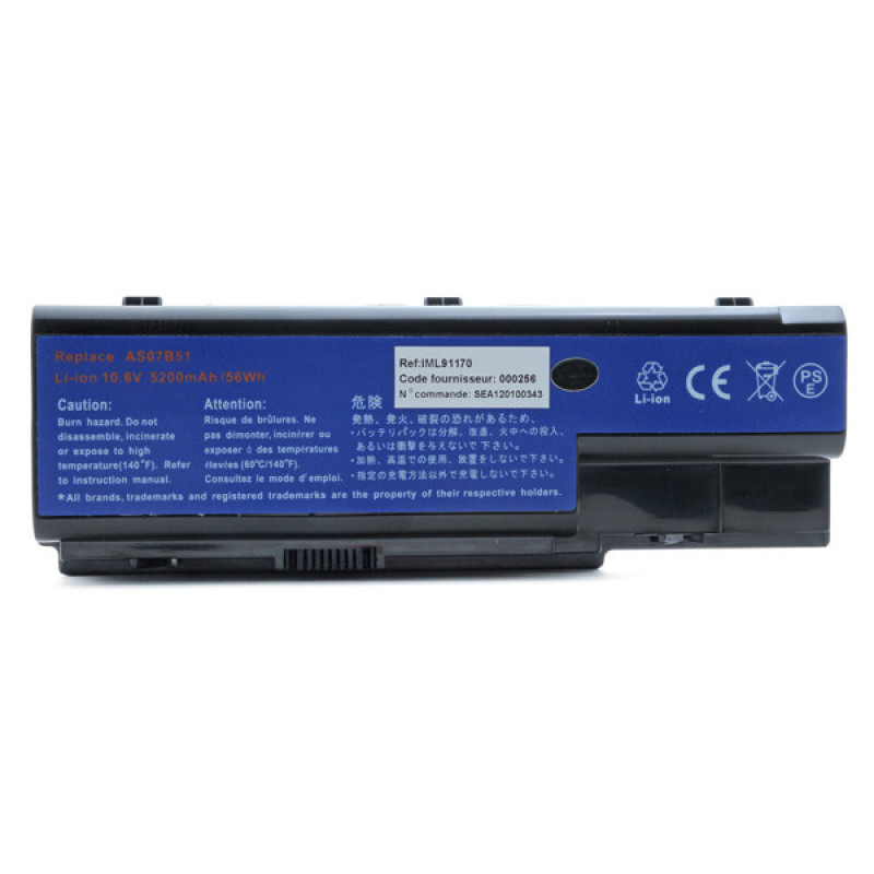 Batterie ordinateur portable pour Acer Aspire 6935G series - IML91170
