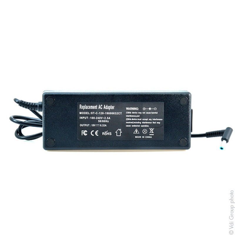 Alimentation ordinateur portable 19V 120W - LEX14136