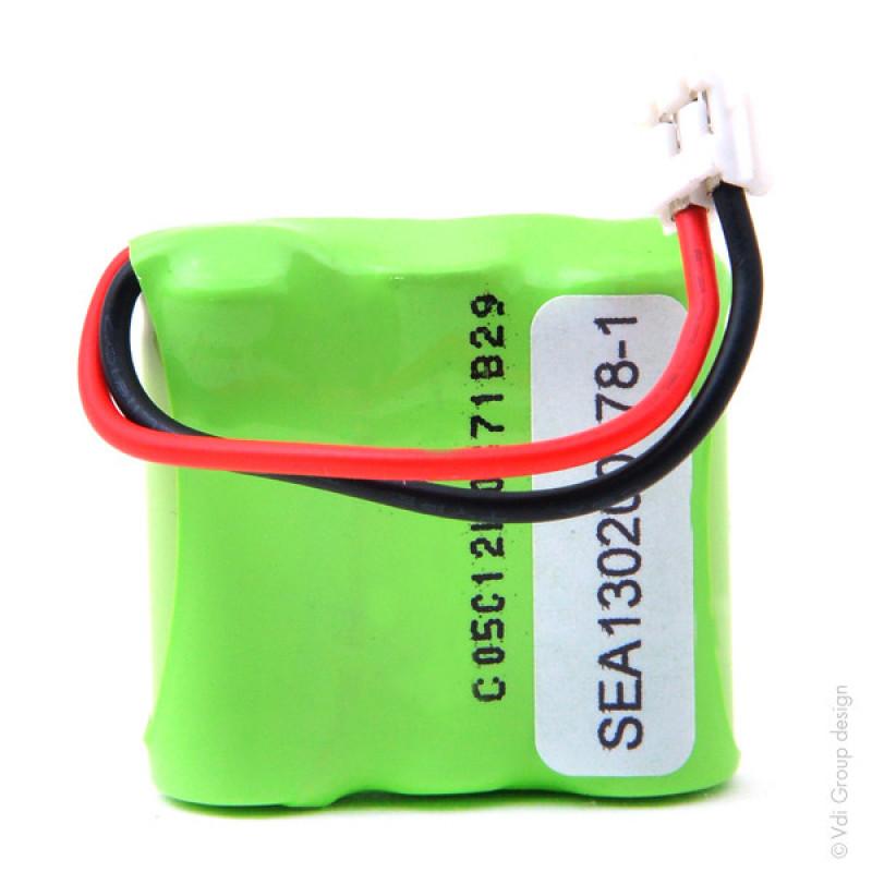 Batterie téléphone fixe 3x 2/3AAA 3S1P ST1 3.6V 300mAh Conn - TGH8607
